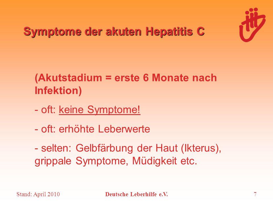 Symptome der akuten Hepatitis C