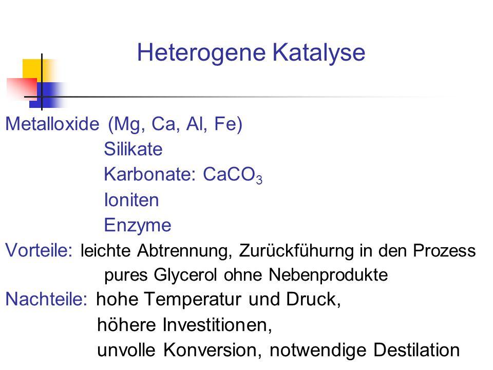 Heterogene Katalyse Metalloxide (Mg, Ca, Al, Fe) Silikate