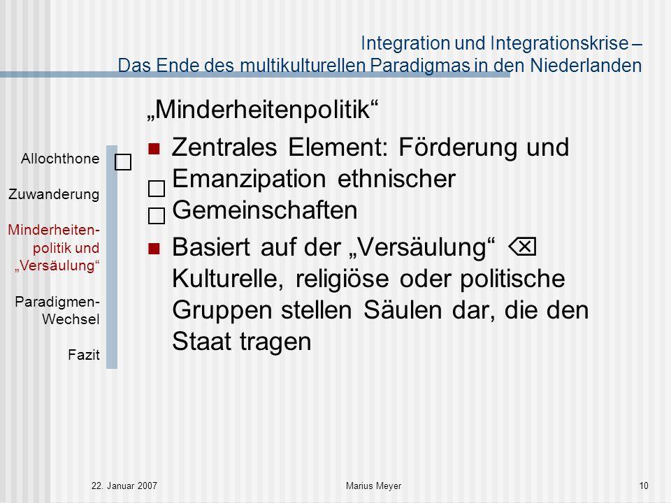 """""""Minderheitenpolitik Ziele:"""
