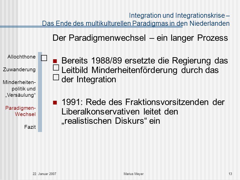 Der Paradigmenwechsel – ein langer Prozess