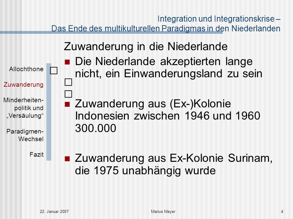 Zuwanderung in die Niederlande