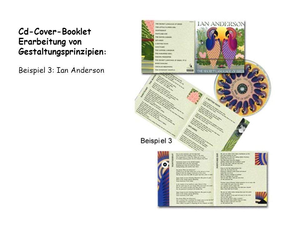 Cd-Cover-Booklet Erarbeitung von Gestaltungsprinzipien: