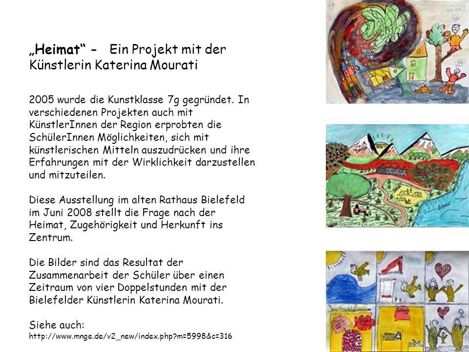 """""""Heimat - Ein Projekt mit der Künstlerin Katerina Mourati"""