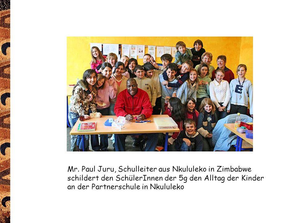 Mr. Paul Juru, Schulleiter aus Nkululeko in Zimbabwe