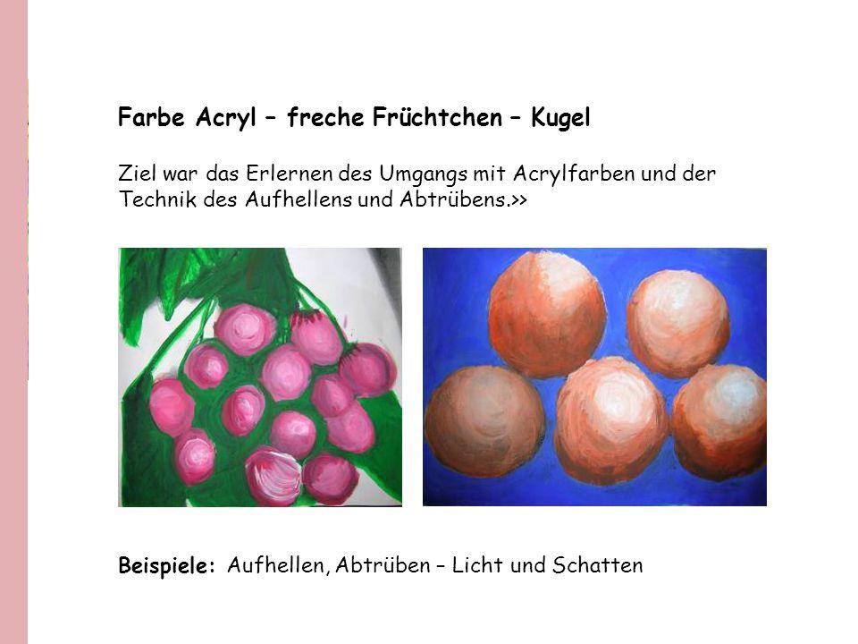 Farbe Acryl – freche Früchtchen – Kugel