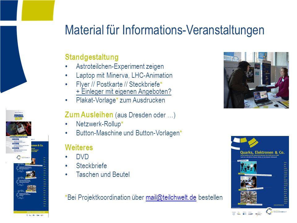 Material für Informations-Veranstaltungen
