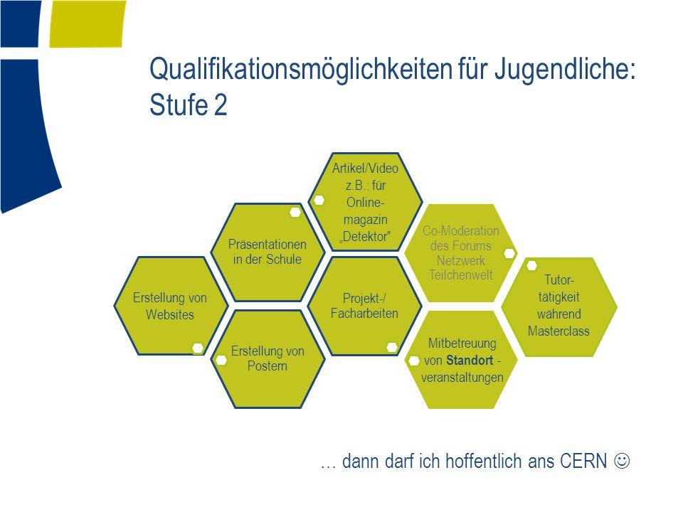 Qualifikationsmöglichkeiten für Jugendliche: Stufe 2