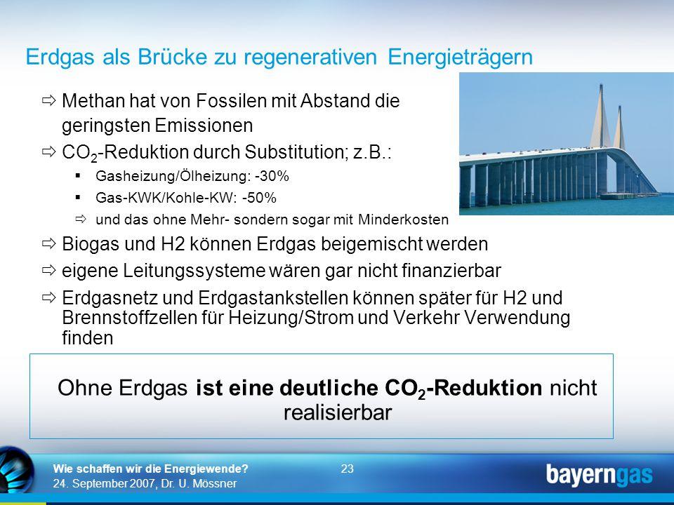 Erdgas als Brücke zu regenerativen Energieträgern