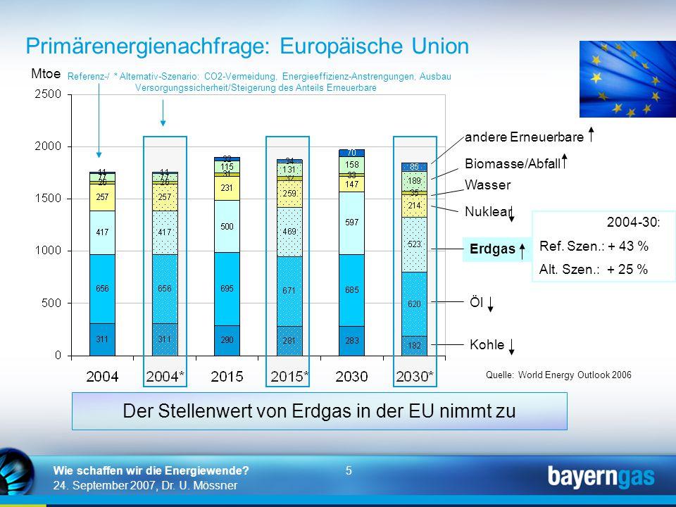 Primärenergienachfrage: Europäische Union