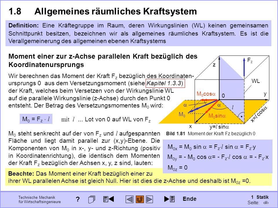 1.8 Allgemeines räumliches Kraftsystem