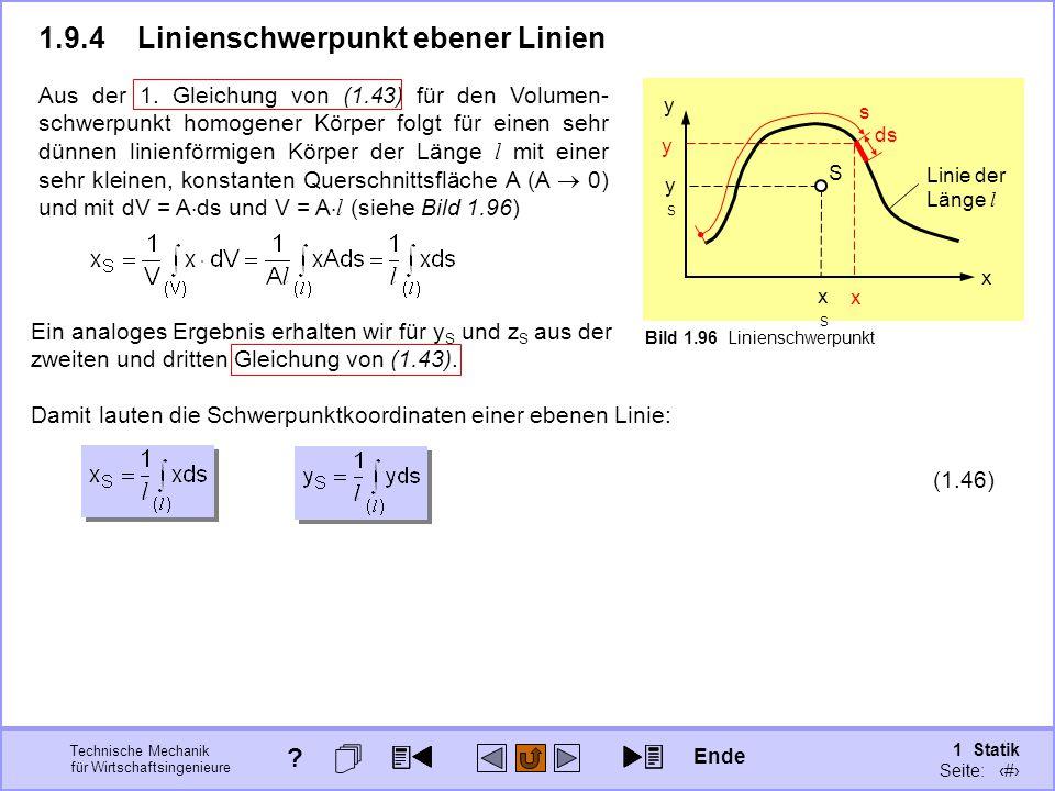 1.9.4 Linienschwerpunkt ebener Linien