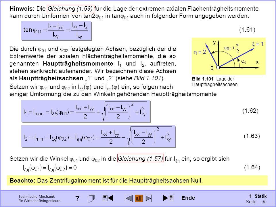 Hinweis: Die Gleichung (1