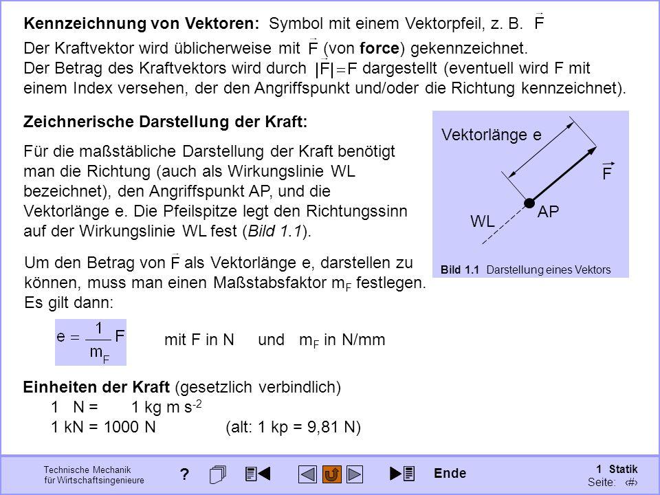 Kennzeichnung von Vektoren: Symbol mit einem Vektorpfeil, z. B.