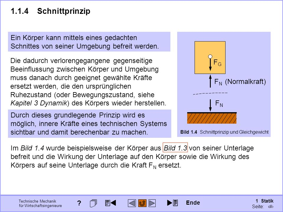 1.1.4 Schnittprinzip