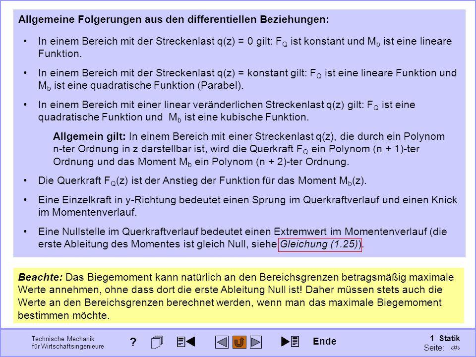 Allgemeine Folgerungen aus den differentiellen Beziehungen: