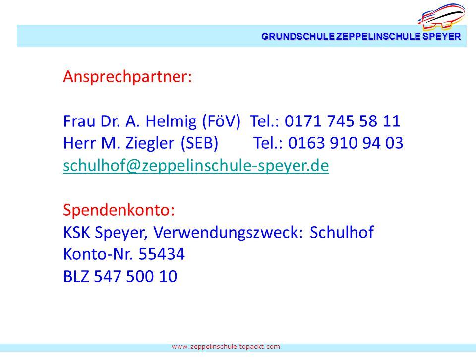 Frau Dr. A. Helmig (FöV) Tel.: 0171 745 58 11