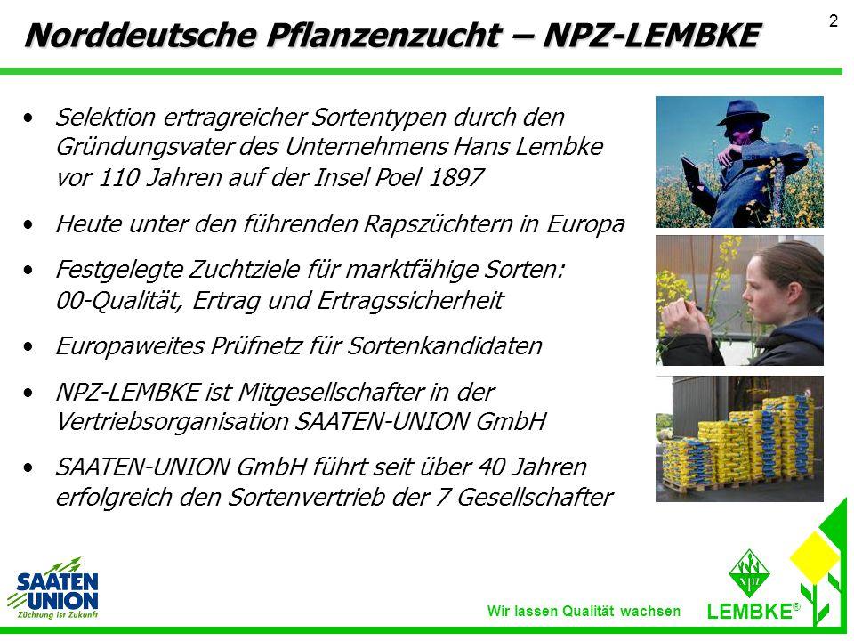 Norddeutsche Pflanzenzucht – NPZ-LEMBKE