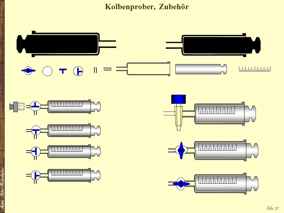 Kolbenprober, Zubehör Autor: Peter Maisenbacher