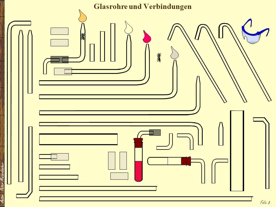 Glasrohre und Verbindungen