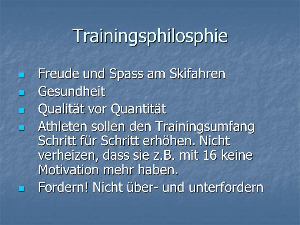 Trainingsphilosphie Freude und Spass am Skifahren Gesundheit