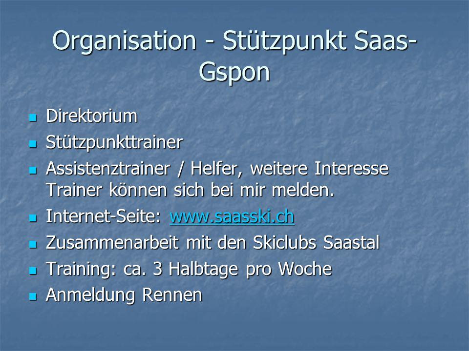 Organisation - Stützpunkt Saas-Gspon