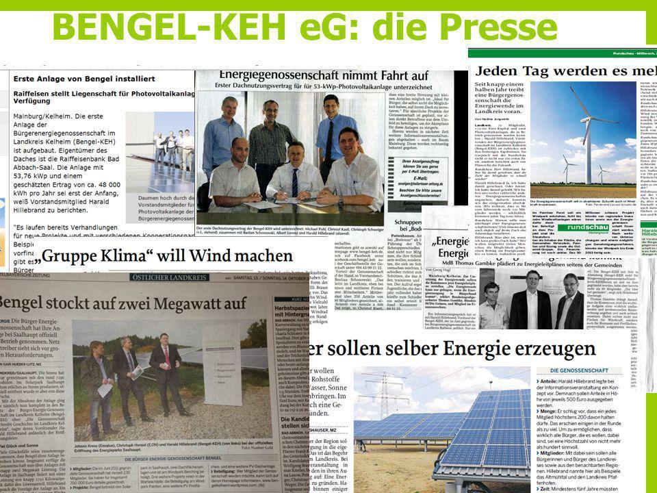 BENGEL-KEH eG: die Presse