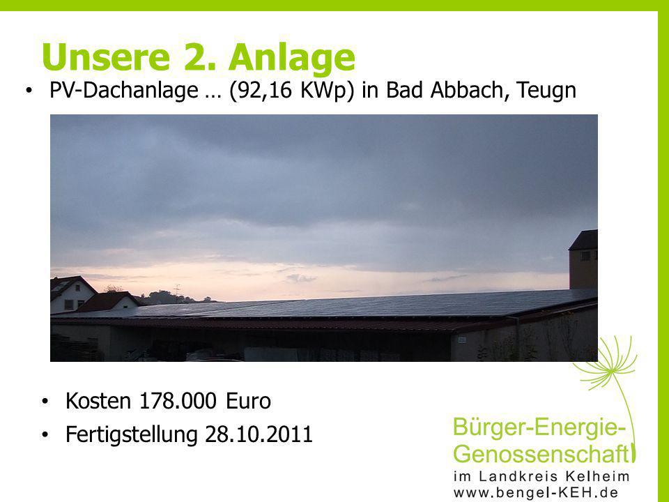 Unsere 2. Anlage PV-Dachanlage … (92,16 KWp) in Bad Abbach, Teugn
