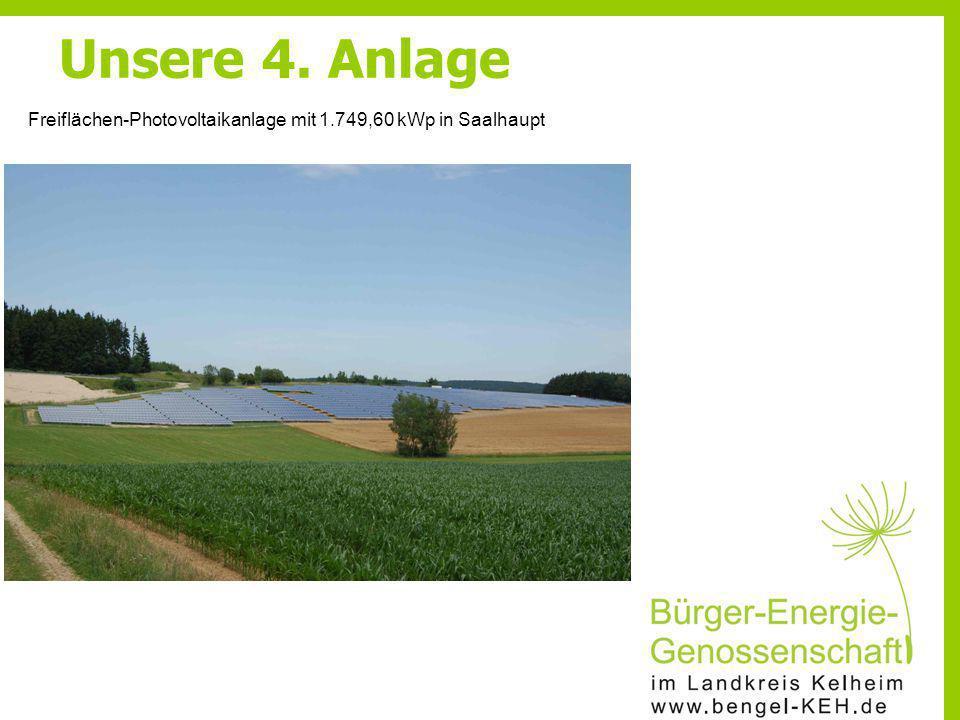 Unsere 4. Anlage Freiflächen-Photovoltaikanlage mit 1.749,60 kWp in Saalhaupt
