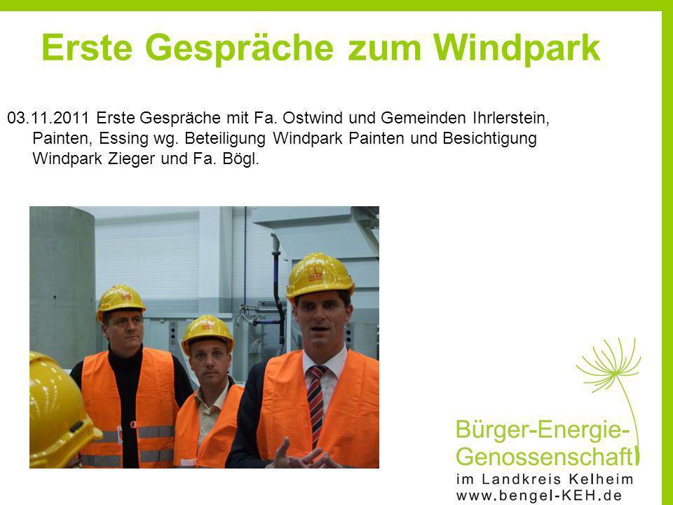 Erste Gespräche zum Windpark