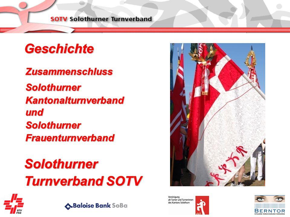 Geschichte Solothurner Turnverband SOTV Zusammenschluss Solothurner