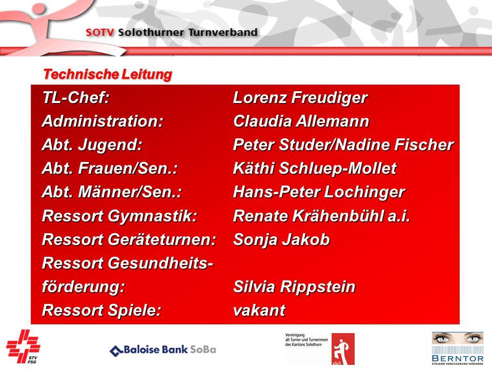 TL-Chef: Lorenz Freudiger Administration: Claudia Allemann