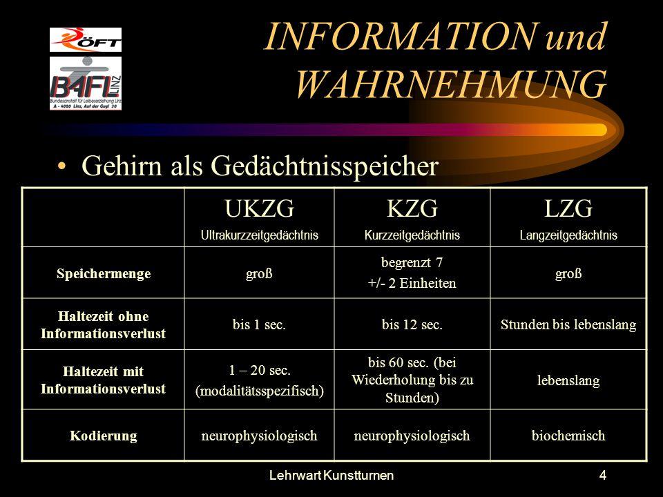 INFORMATION und WAHRNEHMUNG