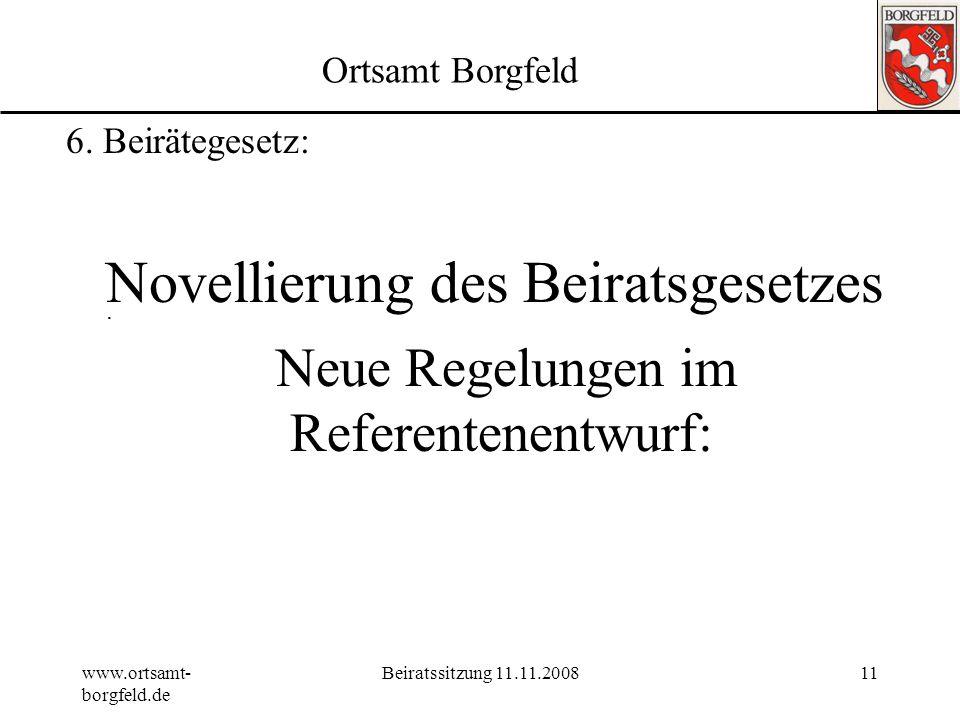 Novellierung des Beiratsgesetzes