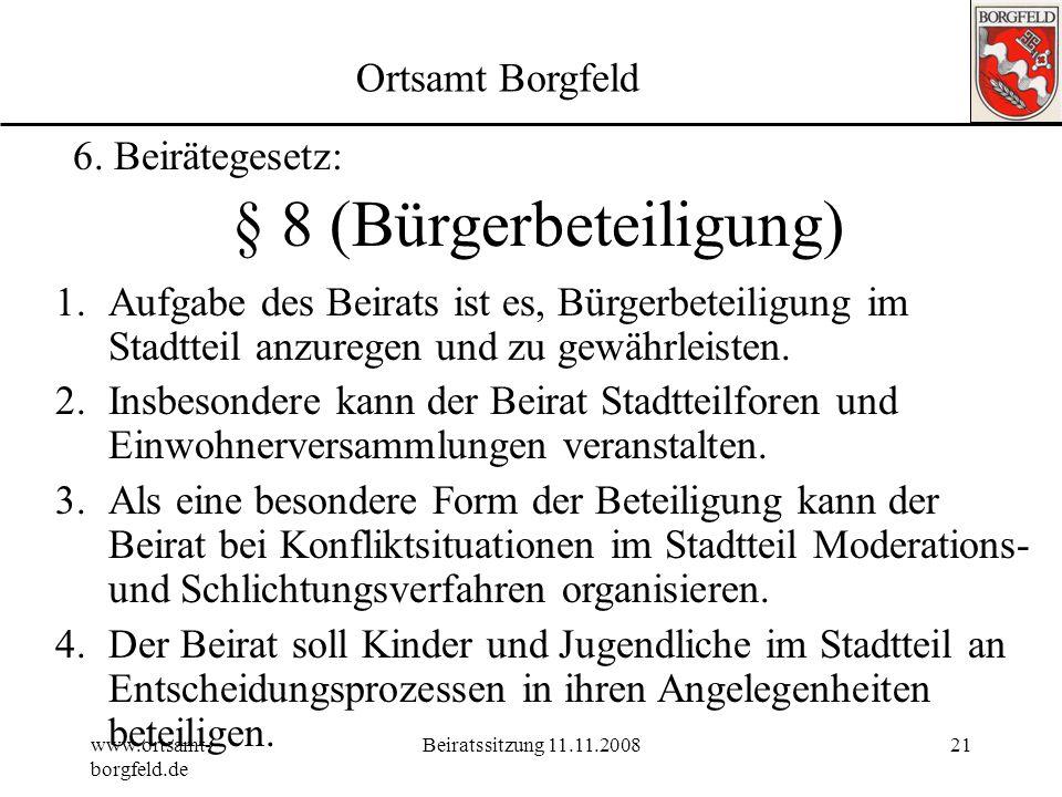 § 8 (Bürgerbeteiligung)