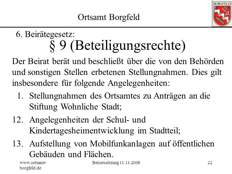 § 9 (Beteiligungsrechte)