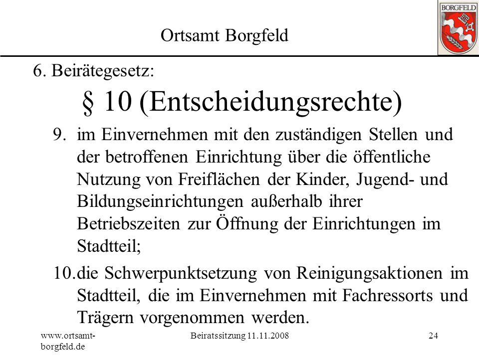 § 10 (Entscheidungsrechte)