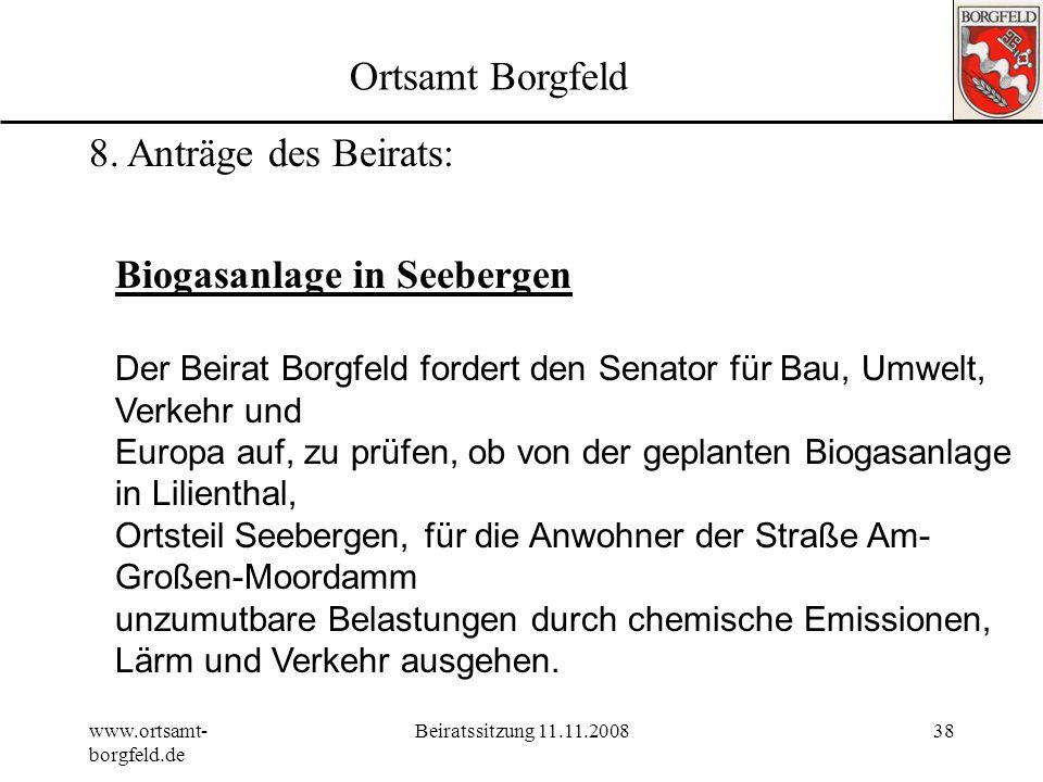 Biogasanlage in Seebergen