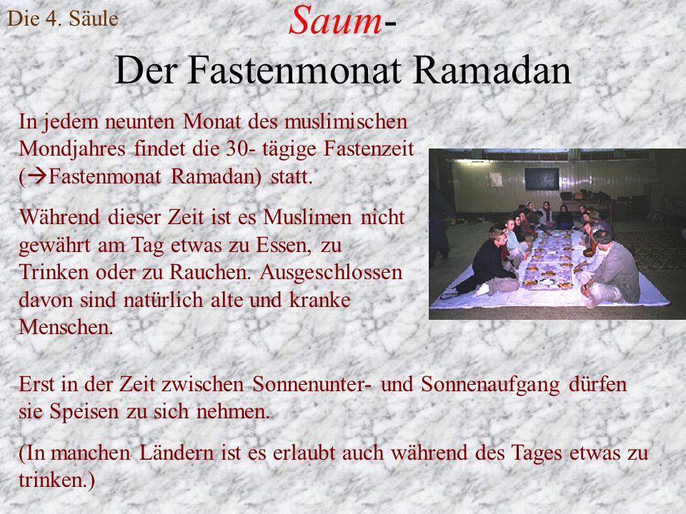 Saum- Der Fastenmonat Ramadan