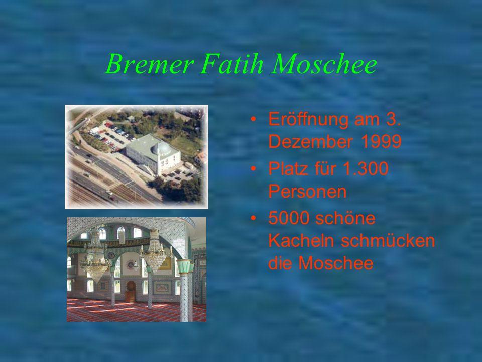 Bremer Fatih Moschee Eröffnung am 3. Dezember 1999