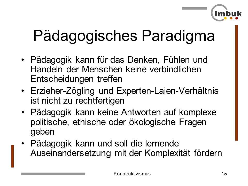 Pädagogisches Paradigma