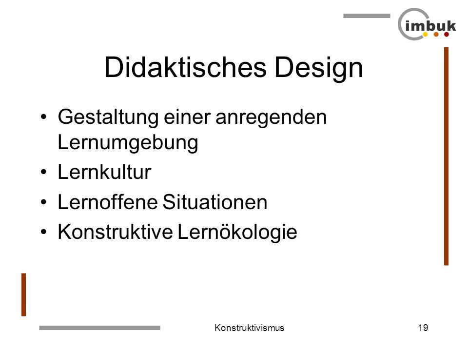 Didaktisches Design Gestaltung einer anregenden Lernumgebung