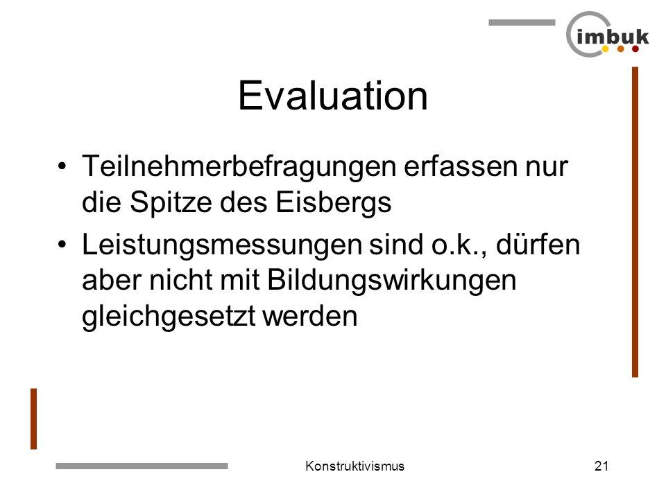 Evaluation Teilnehmerbefragungen erfassen nur die Spitze des Eisbergs