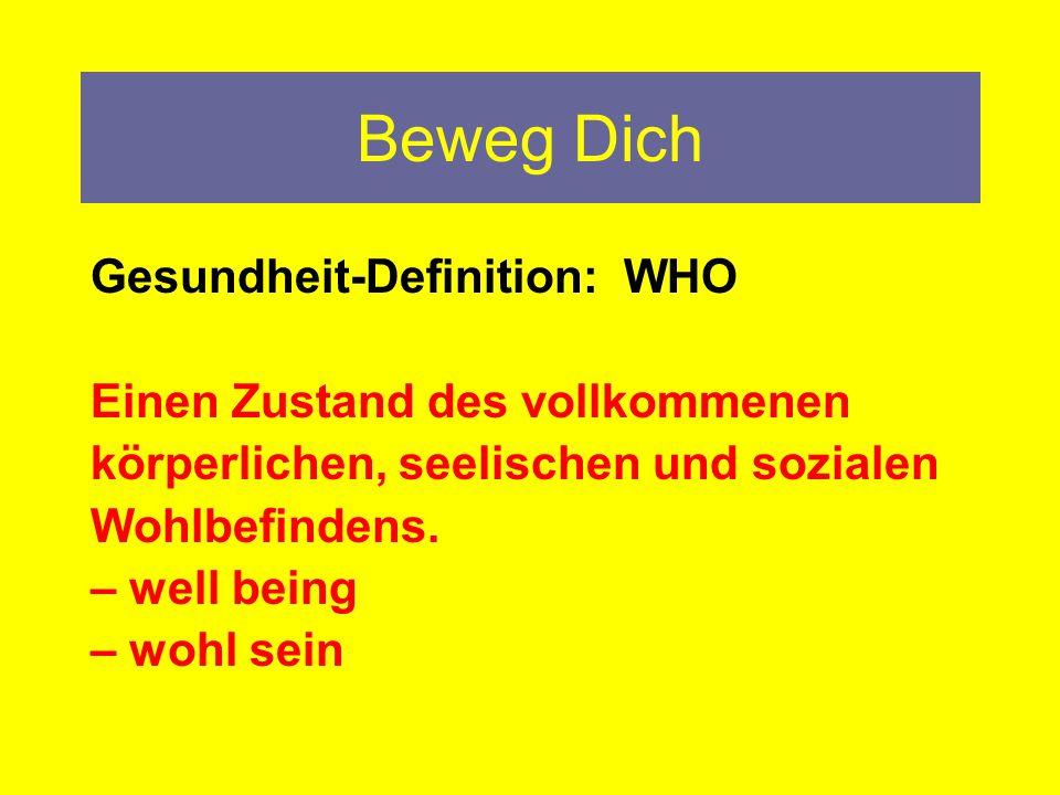 Beweg Dich Gesundheit-Definition: WHO Einen Zustand des vollkommenen