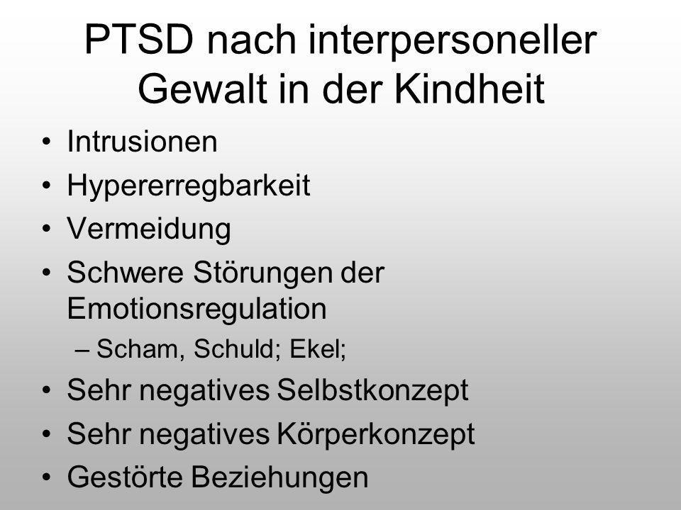 PTSD nach interpersoneller Gewalt in der Kindheit