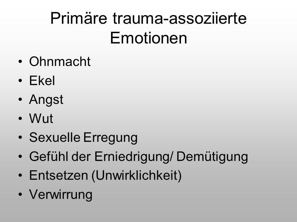 Primäre trauma-assoziierte Emotionen