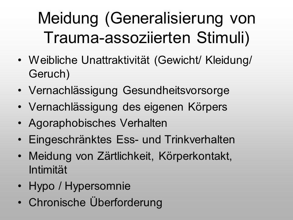 Meidung (Generalisierung von Trauma-assoziierten Stimuli)