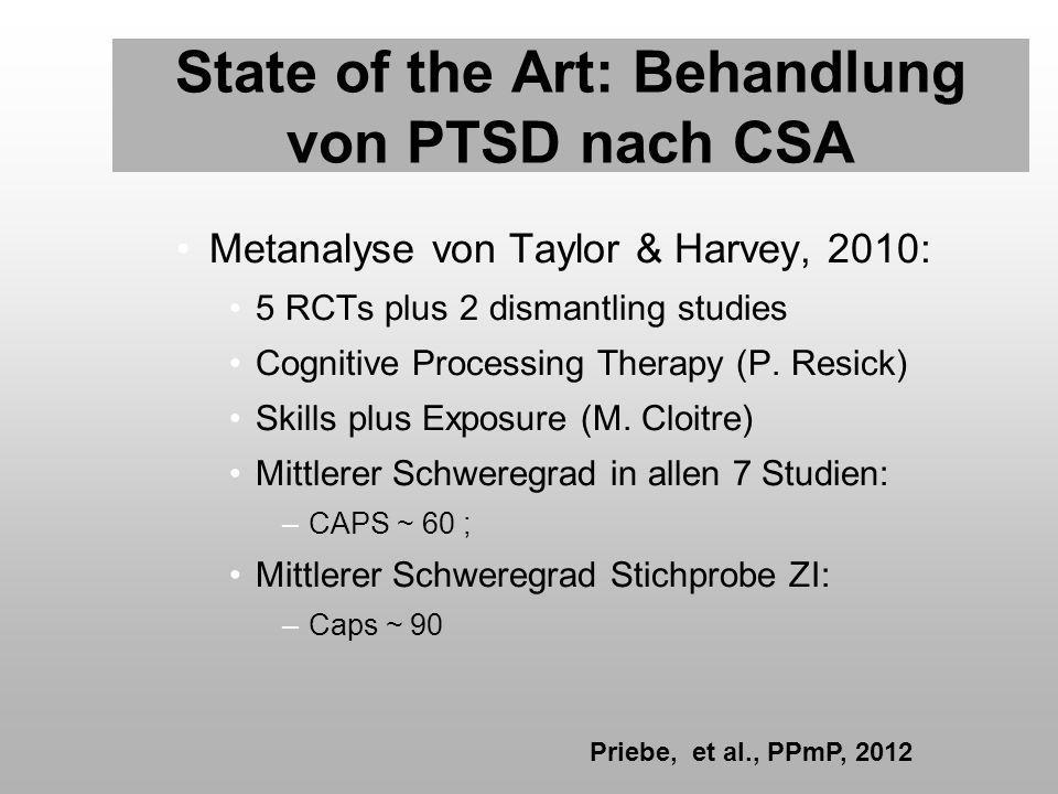 State of the Art: Behandlung von PTSD nach CSA