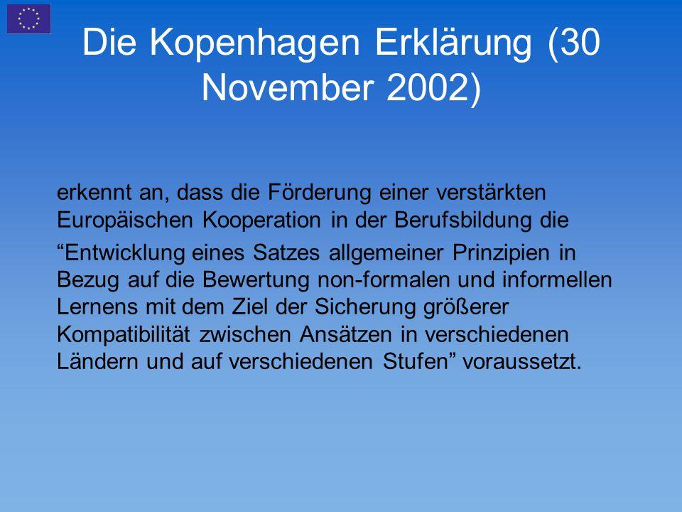 Die Kopenhagen Erklärung (30 November 2002)