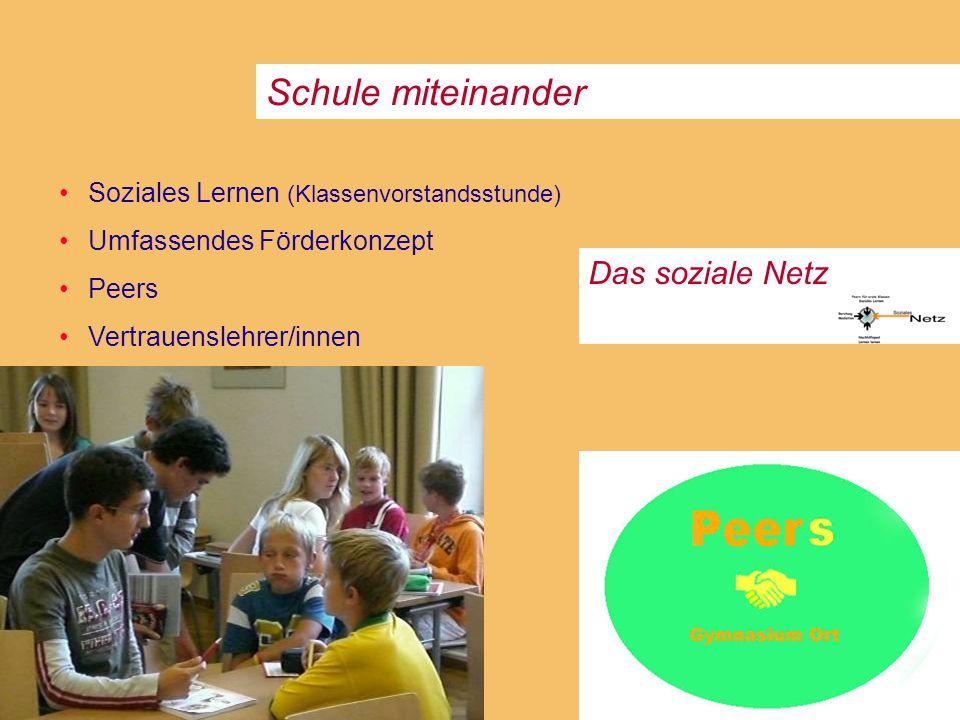 Schule miteinander Das soziale Netz