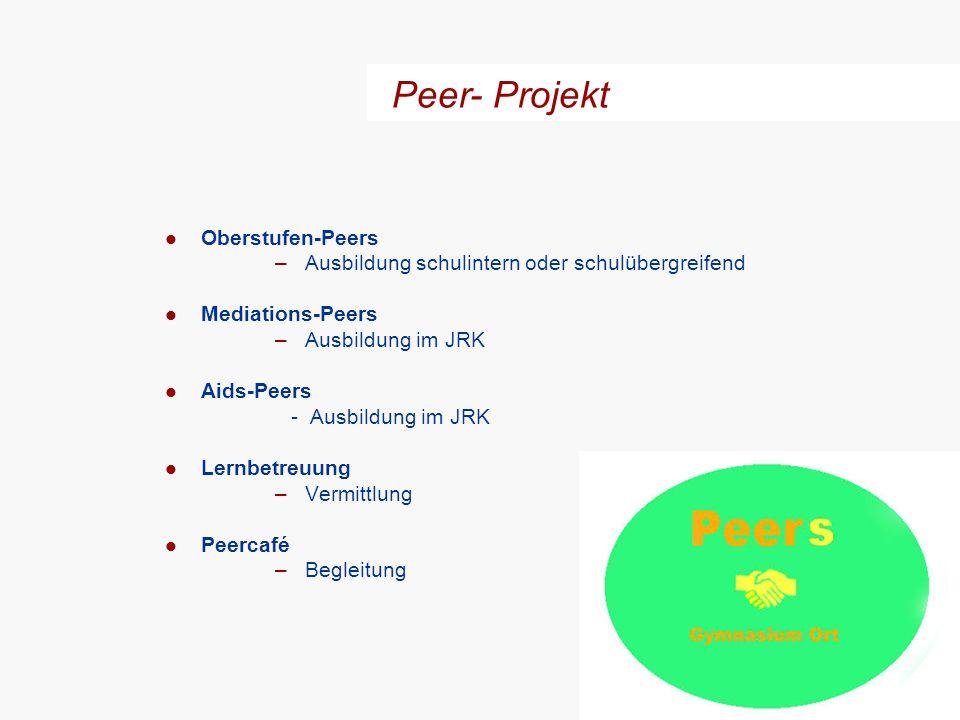 Peer- Projekt Oberstufen-Peers